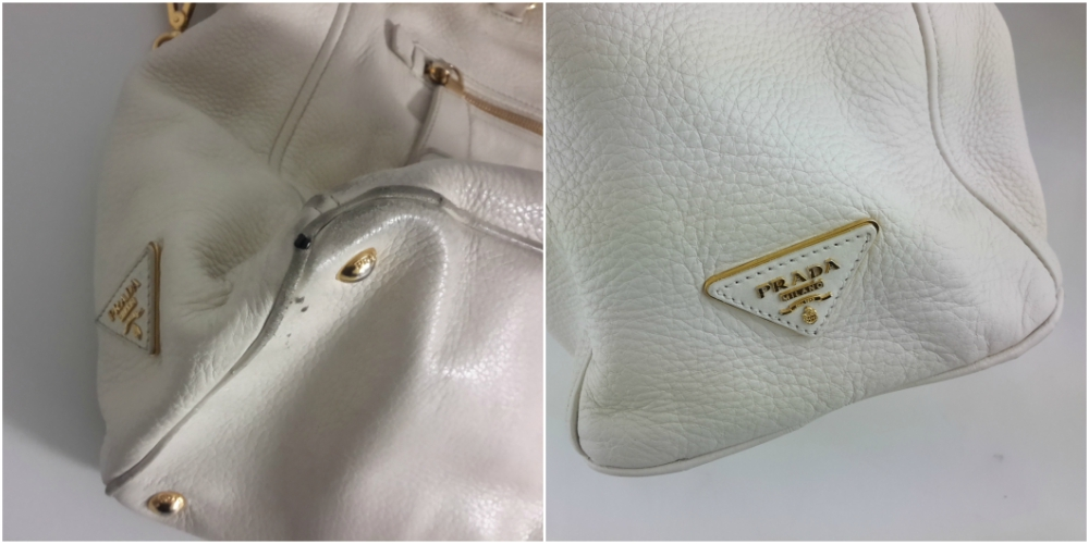 Restauration en cuir blanc